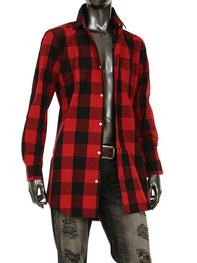 チェックシャツ ロング メンズ