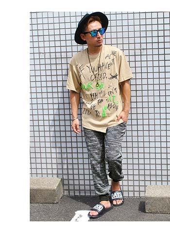 ハット×ビッグTシャツ