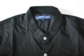 バンドカラーシャツ