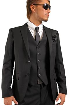 ドレス系ジレベストスーツ3ピース