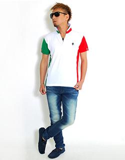 イタリアンカラーを使ったVIOLAのポロシャツコーディネー