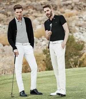 白パンツを使ったゴルフウェアポロシャツコーデ