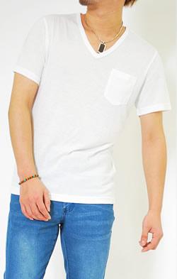 ポケット付きネオンカラフルTシャツ