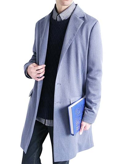 (モノマート) MONO-MART スーツ地 チェスターコート ステンカラーコート