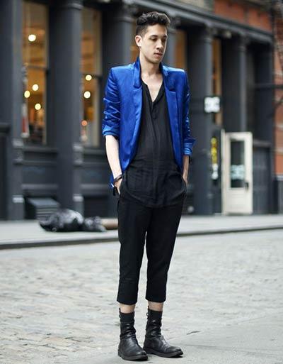 黒×ロイヤルブルー