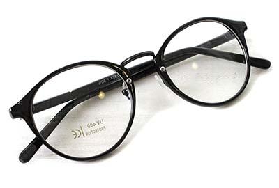 (RAKUGAKI) 伊達メガネ おしゃれ 丸めがね ¥1,969