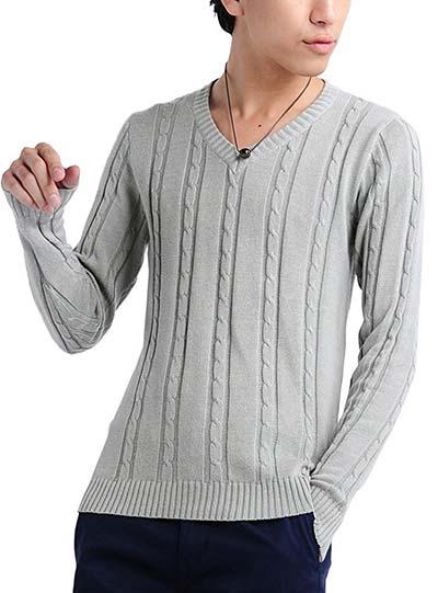 (ベストマート)BestMart 7G 肌触り最高級 コットン アラン編みケーブルニット セーター