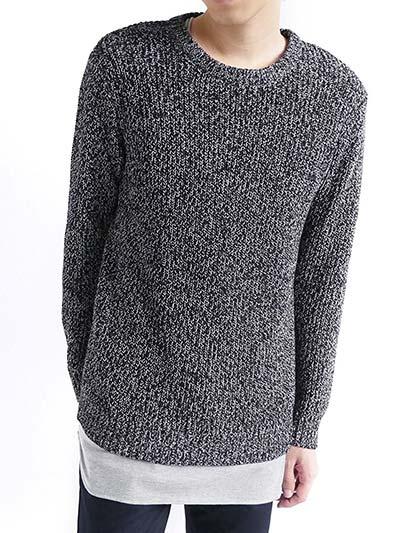(モノマート) MONO-MART 畔編み プルオーバー ニット セーター ざっくり 綿100%