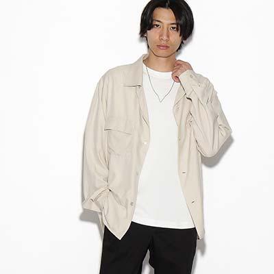 (ティーケー タケオキクチ) tk.TAKEO KIKUCHI レーヨンライク開襟シャツ