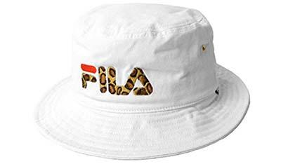 fl-157113025 58cm White (フィラ) FILA レオパード 切り替え バケットハット