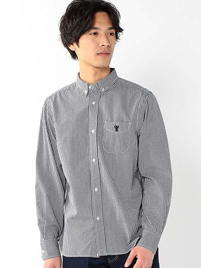 (コーエン) COEN ブロードギンガムチェックボタンダウンシャツ