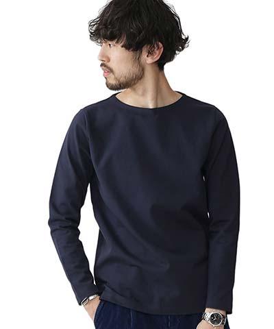 ナノ・ユニバース(nano・universe) ソリッドボートネックTシャツ