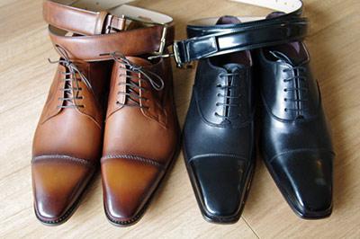 ベルトと靴は同系色で揃える