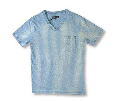 インディゴ染Tシャツ