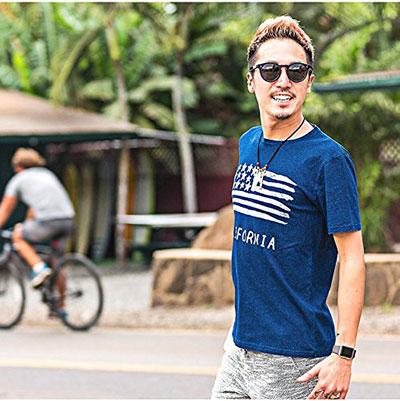 ルービック(RUBIK) 星条旗柄インディゴTシャツ