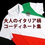 イタリア柄(国旗柄)のメンズ着こなしコーディネート