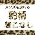 【春に流行間違い無し】豹柄アイテムの着こなし方
